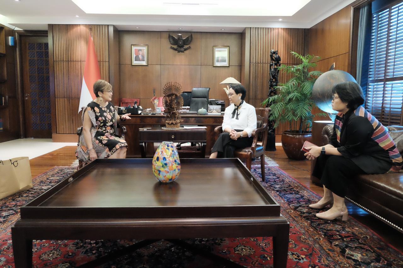 Ketua IDN bertemu dengan mentri LN Indonesia di Jakarta